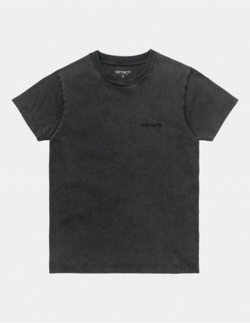 Carhartt WIP W S/S Mosby Script T-Shirt Black. - Women's T-Shirt - Miniature Photo 1