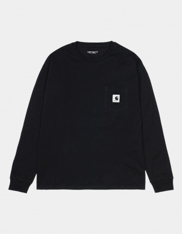 Carhartt Wip W L/S Pocket T-Shirt Black. - Product Photo 1