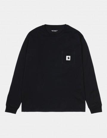 Carhartt Wip W L/S Pocket T-Shirt Black. - Product Photo 1