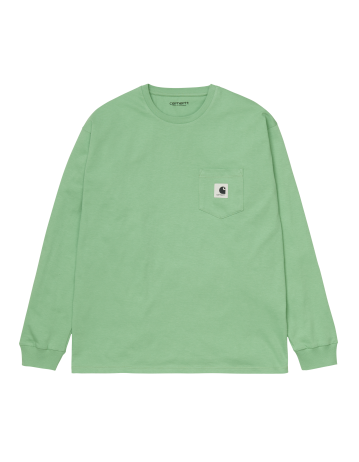 Carhartt Wip W L/S Pocket T-Shirt Mineral Green. - Product Photo 2