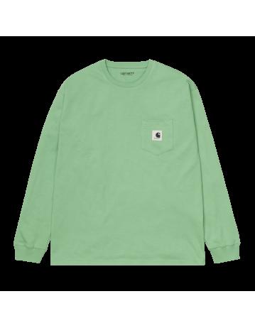 Carhartt Wip W L/S Pocket T-Shirt Mineral Green. - Product Photo 2