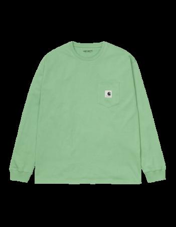 Carhartt WIP W L/S Pocket T-Shirt Mineral Green. - Women's T-Shirt - Miniature Photo 2