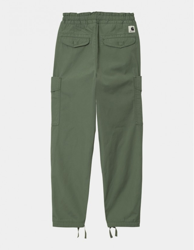 Carhartt Wip W Denver Pant Dollar Green Stone Washed. - Women's Pants  - Cover Photo 1