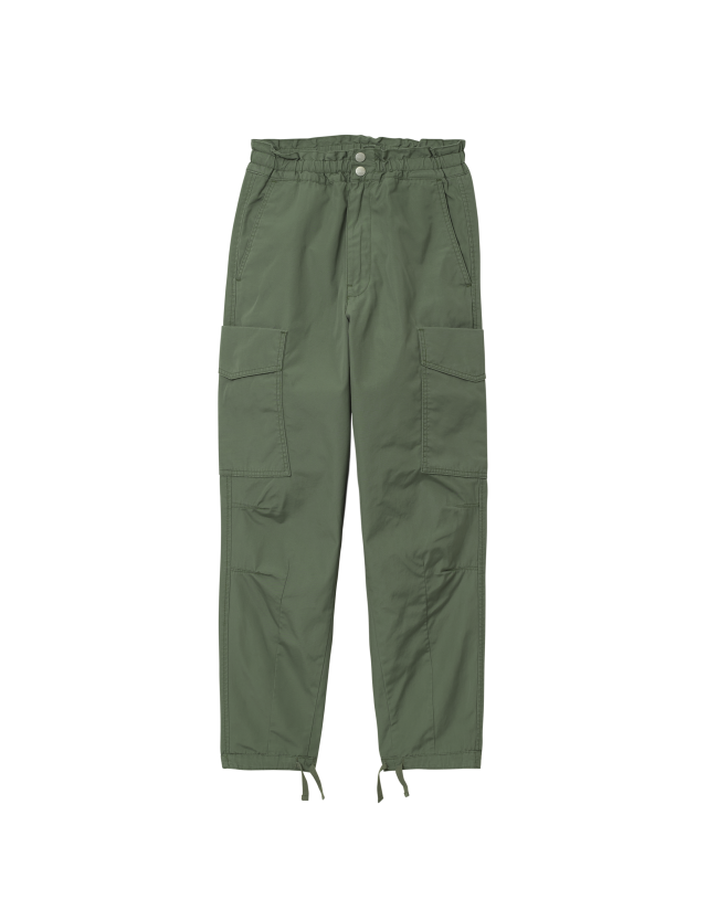 Carhartt Wip W Denver Pant Dollar Green Stone Washed. - Women's Pants  - Cover Photo 2