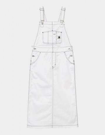 Carhartt Wip W Bib Skirt Long White Rinsed. - Product Photo 1