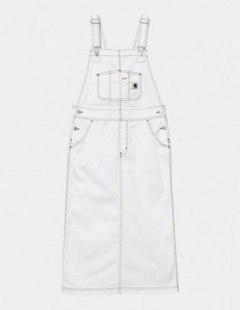 Carhartt WIP W Bib Skirt Long White rinsed. - Women's Overalls - Miniature Photo 1