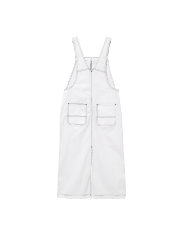 Carhartt Wip W Bib Skirt Long White Rinsed. - Product Photo 2