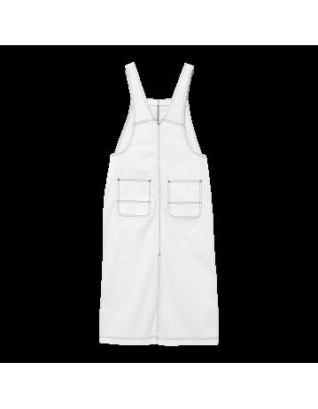 Carhartt Wip W Bib Skirt Long White Rinsed. - Product Photo 2