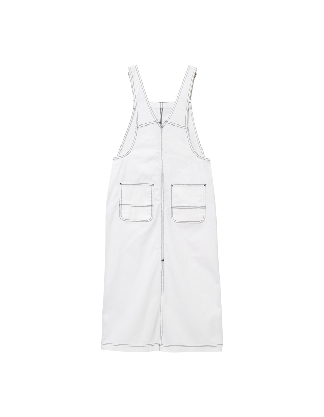 Carhartt Wip W Bib Skirt Long White Rinsed. - Women's Overalls  - Cover Photo 2