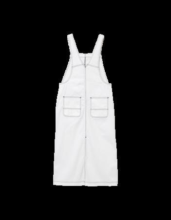 Carhartt WIP W Bib Skirt Long White rinsed. - Women's Overalls - Miniature Photo 2