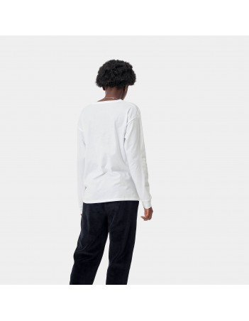 Carhartt WIP W L/S Pocket T-Shirt White. - Women's T-Shirt - Miniature Photo 2