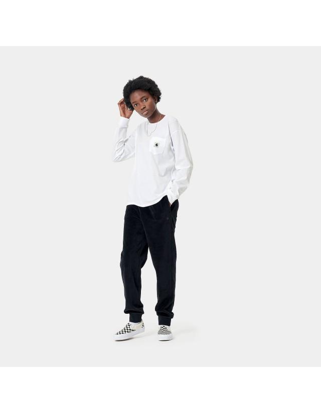 Carhartt Wip W L/S Pocket T-Shirt White. - Women's T-Shirt  - Cover Photo 3