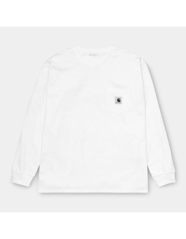 Carhartt Wip W L/S Pocket T-Shirt White. - Women's T-Shirt  - Cover Photo 4