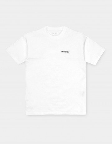 Carhartt Wip W S/S Script Embroidery T-Shirt White / Black. - Product Photo 1