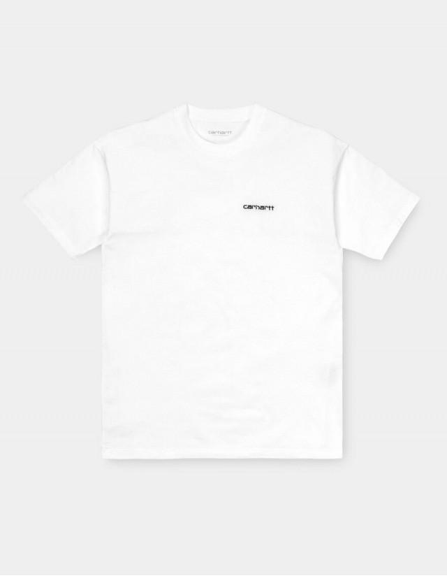 Carhartt Wip W S/S Script Embroidery T-Shirt White / Black. - Women's T-Shirt  - Cover Photo 1