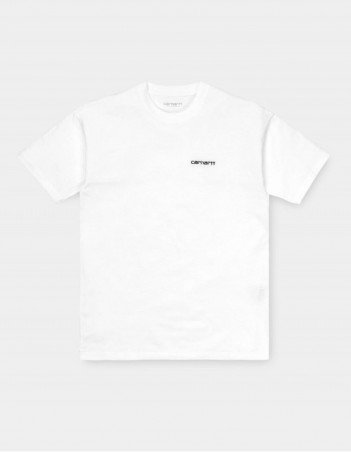 Carhartt WIP W S/S Script Embroidery T-Shirt White / Black. - Women's T-Shirt - Miniature Photo 1