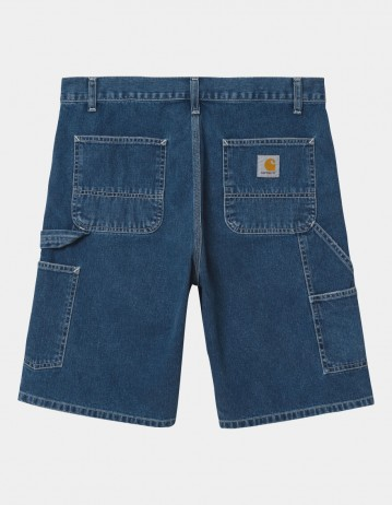 Carhartt Wip Ruck Single Knee Short Blue Stone Washed. - Product Photo 1
