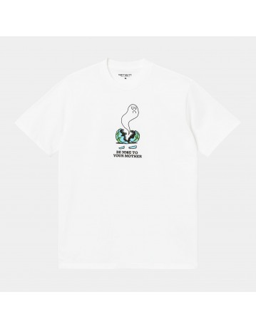Carhartt Wip S/S Nice To Mother T-Shirt White. - Product Photo 1