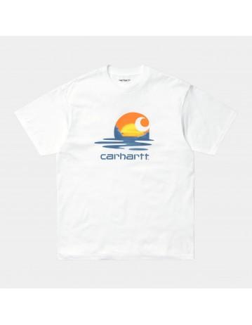 Carhartt Wip S/S Lagoon C T-Shirt White. - Product Photo 1