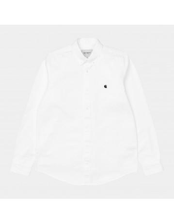 Carhartt Wip L/S Madison Shirt White / Black. - Product Photo 1