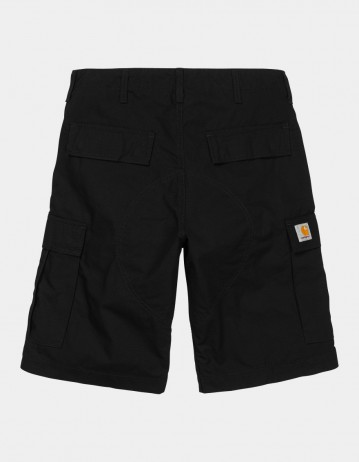 Carhartt Wip Regular Cargo Short Black Rinsed. - Product Photo 1