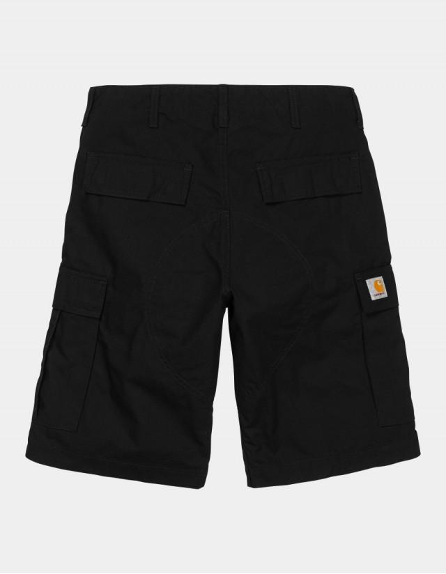 Carhartt Wip Regular Cargo Short Black Rinsed. - Shorts  - Cover Photo 1