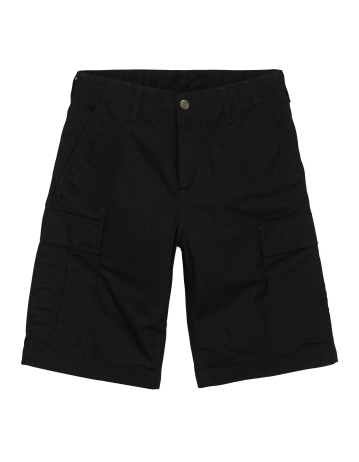 Carhartt Wip Regular Cargo Short Black Rinsed. - Product Photo 2