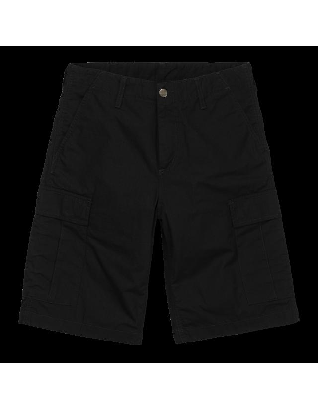 Carhartt Wip Regular Cargo Short Black Rinsed. - Shorts  - Cover Photo 2