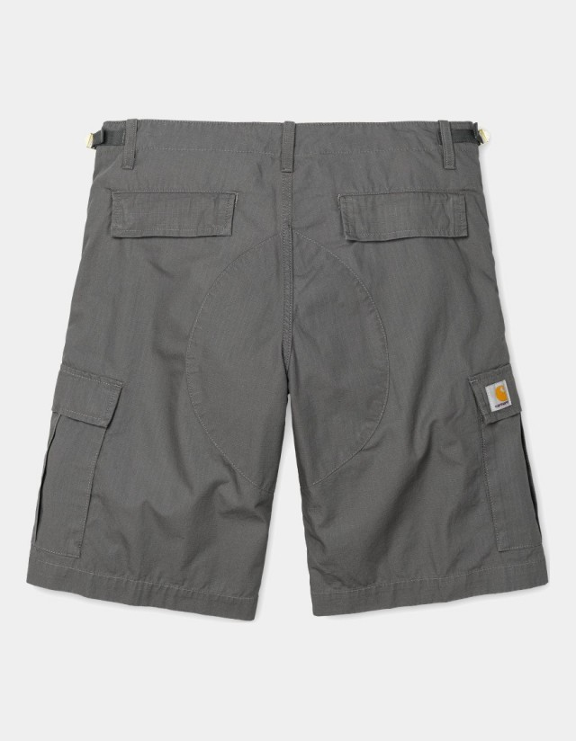 Carhartt Wip Aviation Short Air Force Grey Rinsed. - Shorts  - Cover Photo 1