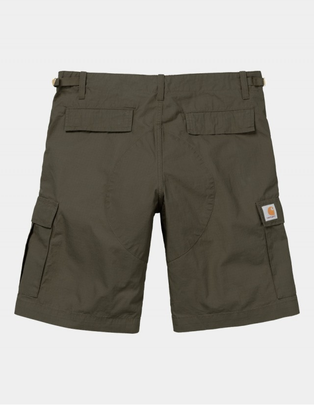 Carhartt Wip Aviation Short Cypress Rinsed. - Shorts  - Cover Photo 1
