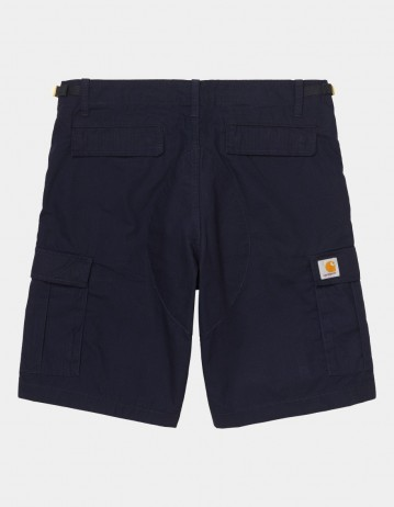Carhartt Wip Aviation Short Dark Navy Rinsed. - Product Photo 1