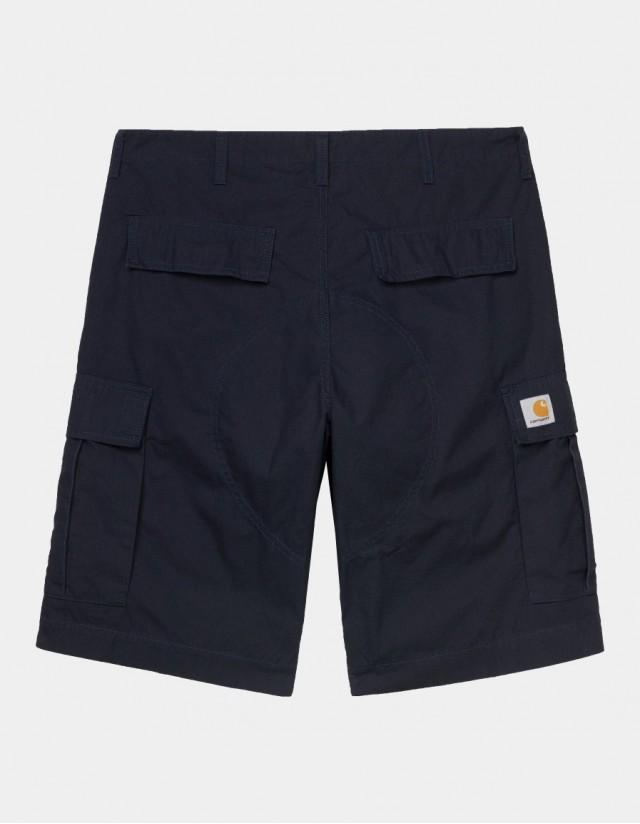 Carhartt Wip Regular Cargo Short Dark Navy Rinsed. - Shorts  - Cover Photo 1