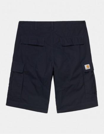Carhartt WIP Regular Cargo Short Dark Navy rinsed. - Shorts - Miniature Photo 1