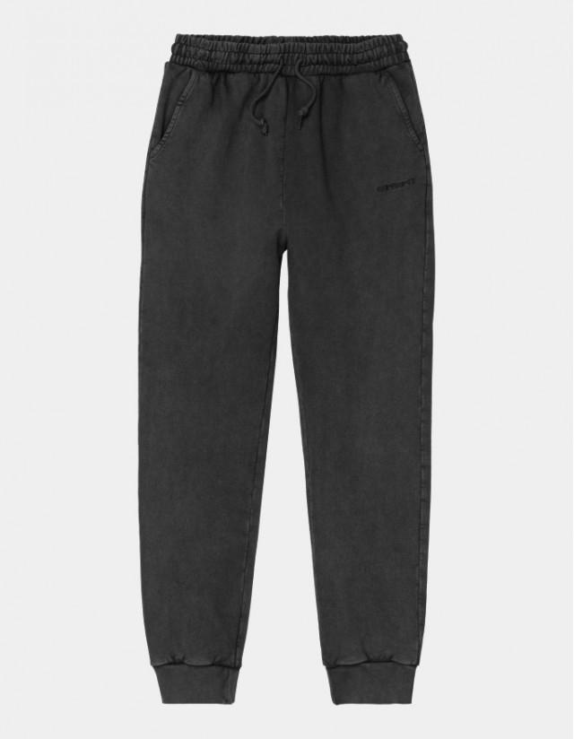 Carhartt Wip W Mosby Script Sweat Pant Black. - Women's Pants  - Cover Photo 1
