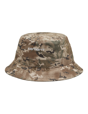 Carhartt Wip Script Bucket Hat Camo Combi, Desert / White. - Product Photo 2