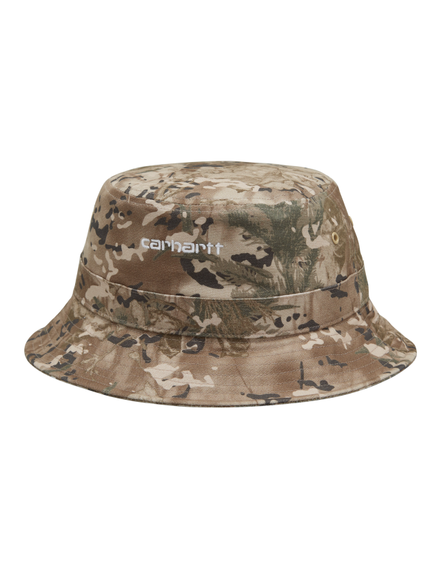 Carhartt Wip Script Bucket Hat Camo Combi, Desert / White. - Cap  - Cover Photo 2
