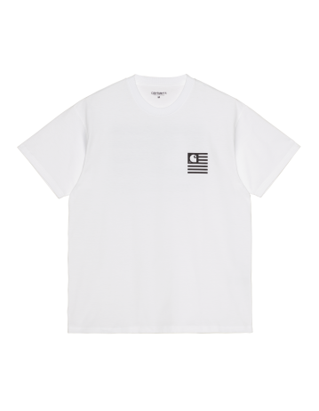 Carhartt Fade State T-Shirt - White/Black - Product Photo 1