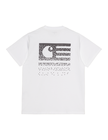 Carhartt Fade State T-Shirt - White/Black - Product Photo 2