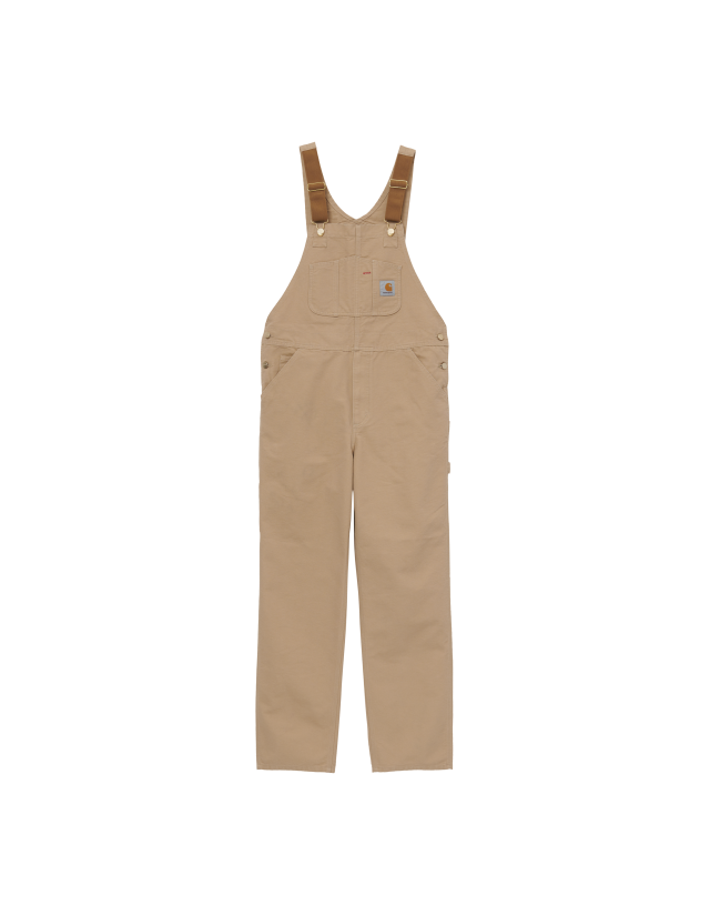Carhartt Bib Overall - Dusty H Brown - Men's Overalls  - Cover Photo 1