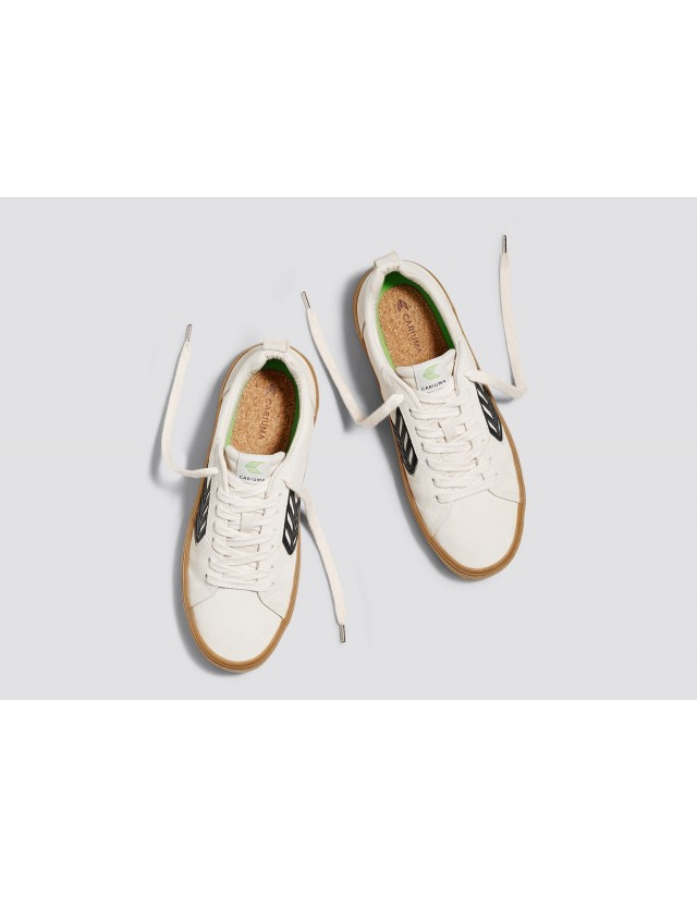 Cariuma Catiba Pro - Gum Vintage White - Skate Shoes  - Cover Photo 2
