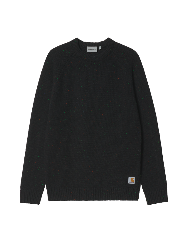 Carhartt Anglistic Sweather - Speckled Black - Men's Sweatshirt  - Cover Photo 1