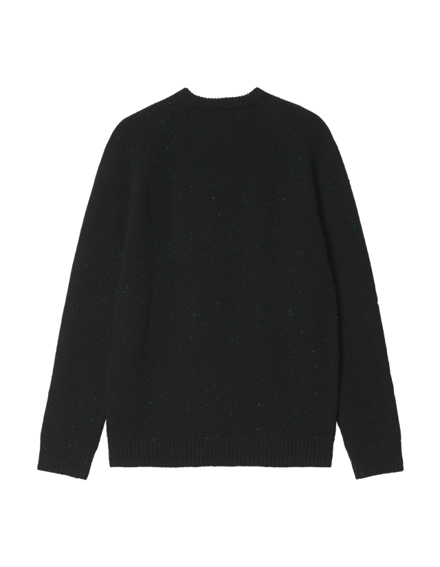 Carhartt Anglistic Sweather - Speckled Black - Men's Sweatshirt  - Cover Photo 2