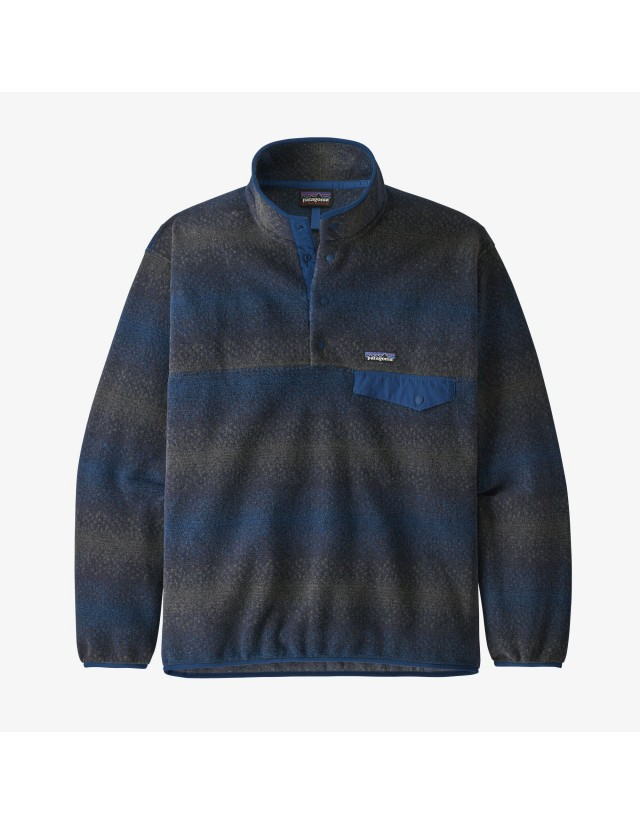 Patagonia M's Synchilla Snap-T Pullover - Gem Stripe New Navy - Men's Sweatshirt  - Cover Photo 1