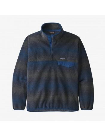 Patagonia M's Synchilla snap-T pullover - Gem stripe new navy - Men's Sweatshirt - Miniature Photo 1