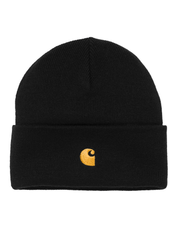 Carhartt Chase Beanie - Black/Gold - Product Photo 1