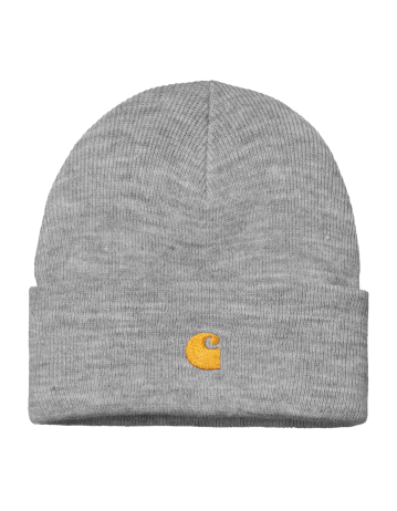 Carhartt Chase Beanie - Grey Heather/Gold - Product Photo 1