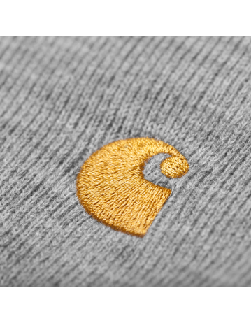 Carhartt Chase Beanie - Grey Heather/Gold - Product Photo 2
