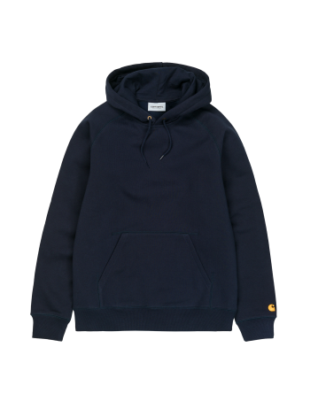 Carhartt Hooded Chase Sweatshirt - Dark Navy/Gold - Product Photo 1