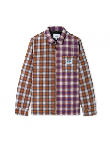Butter Goods Patchwork Plaid Overshirt - Brown/Purple - Product Photo 1