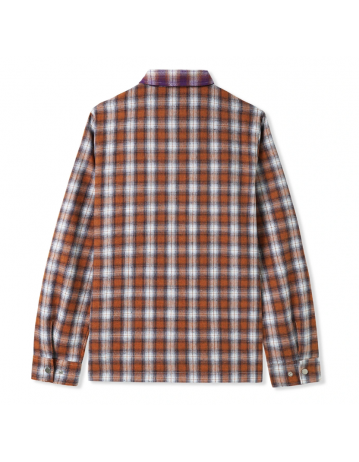 Butter Goods Patchwork Plaid Overshirt - Brown/Purple - Product Photo 2